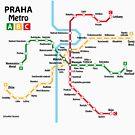 Prague metro network by UrbanRail
