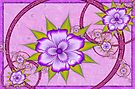 Fractal floral design in Purple by inkedsandra