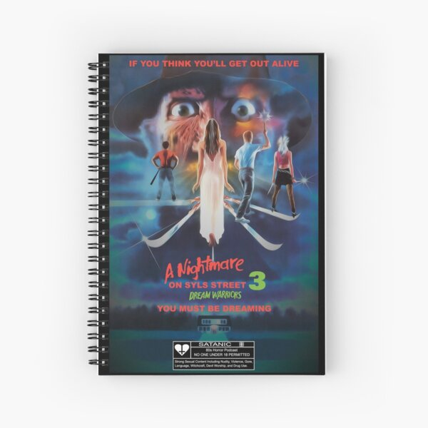 Say You Love Satan 80s Horror Podcast - A Nightmare on Elm Street 3 - Dream Warriors Spiral Notebook