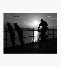 West Kirby Mono-sunset Photographic Print
