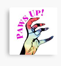 Lady Gaga // Paws Up!  Canvas Print