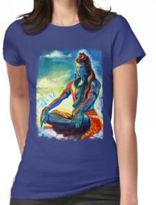 Shiva in Meditation Womens Fitted T-Shirt