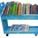 Cart of Books by TJ Baccari Photography