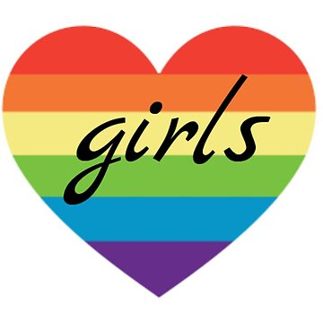 rainbow heart girls by SillySilhouette