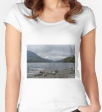 Ullswater Lake District Women's Fitted Scoop T-Shirt