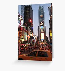 Times Square overload Greeting Card