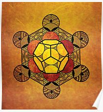 Sacred Geometry - Ether Amber Poster
