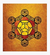 Sacred Geometry - Ether Amber Photographic Print