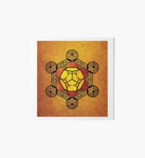 Sacred Geometry - Ether Amber Art Board