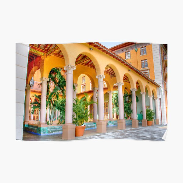 Arched Terrace Poster