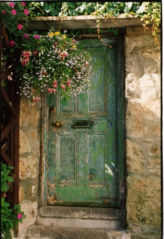 Quot Old Green Door Quot By Clare Mcclelland Redbubble