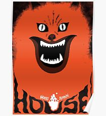 Hausu (ハウス) Retro Japanese Horror Movie Poster