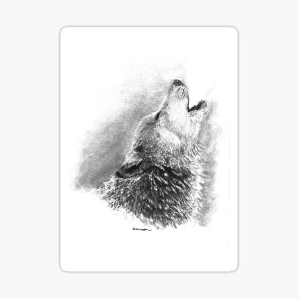 Lupin's Lament - Howling Wolf Sticker