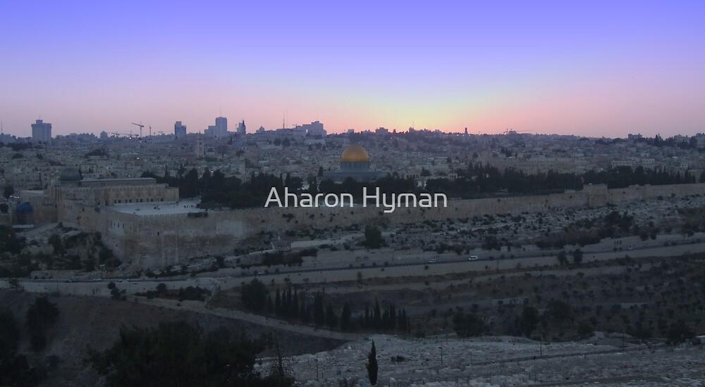 jerusalem sunset by Aharon Hyman