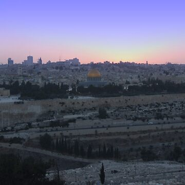 jerusalem sunset by mitnachel