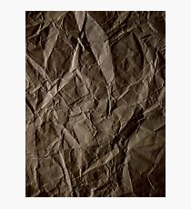 Brown paper Photographic Print