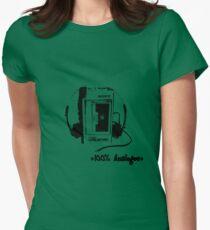 Analogue Walkman Women's Fitted T-Shirt