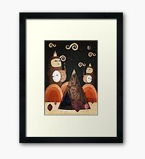 Drums Beating Through The Night Framed Print