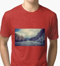 The Lonely Snowy Drive Tri-blend T-Shirt