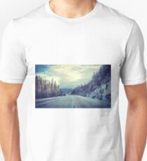 The Lonely Snowy Drive Unisex T-Shirt