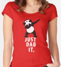 DAB PANDA dab just dab it dabber dance football touch down red Women's Fitted Scoop T-Shirt