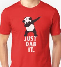 DAB PANDA dab just dab it dabber dance football touch down red T-Shirt
