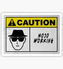 Mojo Working Man Sticker