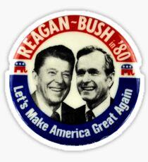 Reagan Bush '84 '80 Retro Logo Red White Blue Election Ronald George 1984 84 1980 80 Pin Sticker