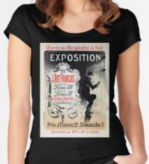 Vintage French Louis XIV & XV antique art expo  Women's Fitted Scoop T-Shirt