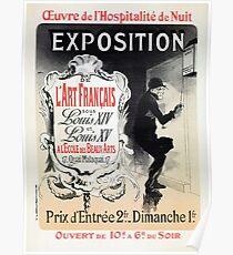 Vintage French Louis XIV & XV antique art expo  Poster