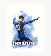 Eden Hazard Art - Chelsea Art Print