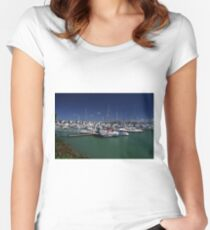Keppel Bay Marina, Queensland, Australia. Women's Fitted Scoop T-Shirt