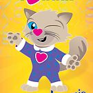 WINK from the book Jammie Cats Count! by Terre Britton