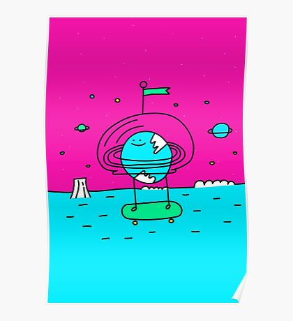 Surreal Planet - Mr Beaker Poster