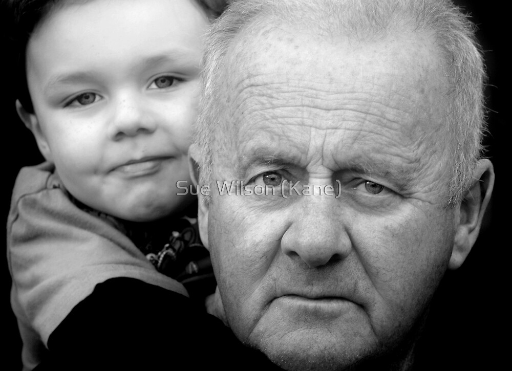 Pop and his little shadow by Sue Wilson (Kane)