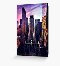 St. Patrick's Cathedral & Rockefeller Center Greeting Card