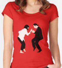 Pulp Fiction // Jack Rabbit Slim's Restaurant Dance Scene // Unique Minimalist Design Women's Fitted Scoop T-Shirt