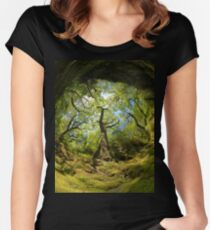 Ness Glen, Mystical Irish Wood Women's Fitted Scoop T-Shirt