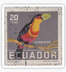Ecuador Stamp Sticker Sticker