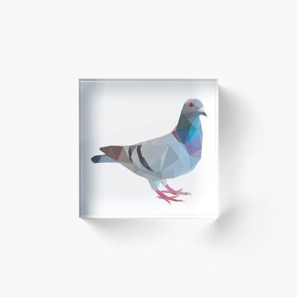 Lowpoly Pigeon Acrylic Block