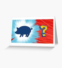 The Money Pig - Pokemon Greeting Card