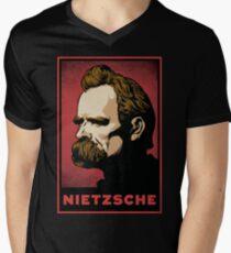 Nietzsche Print Men's V-Neck T-Shirt