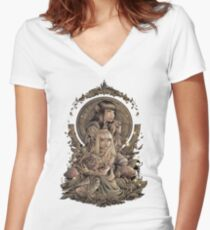 The Great Conjunction Women's Fitted V-Neck T-Shirt