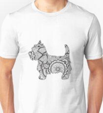 Westie black and white zentangle T-Shirt