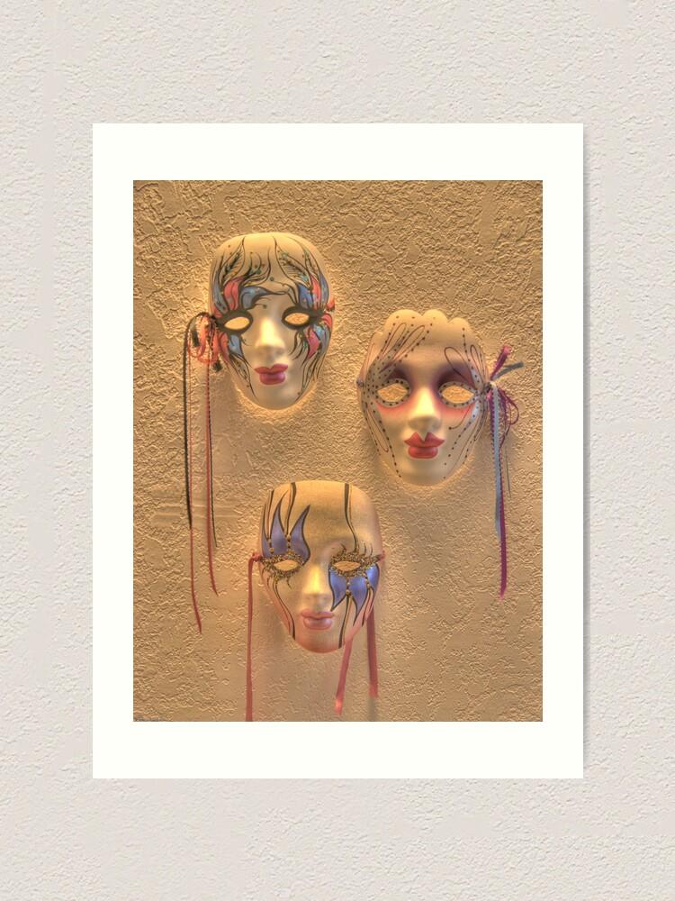 Alternate view of Masquerade Art Print