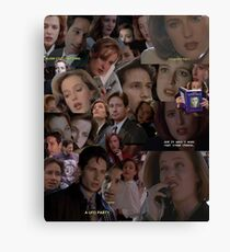 X-Files / Mulder and Scully Collage Canvas Print