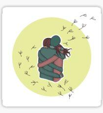 Loving embrace Sticker