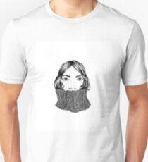 Girl in turtle neck Unisex T-Shirt