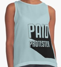 Paid Protester Contrast Tank