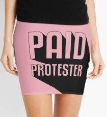 Paid Protester Mini Skirt